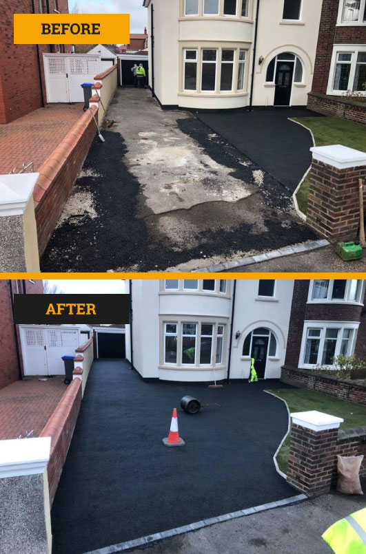 Tarmac laid in Blackpool