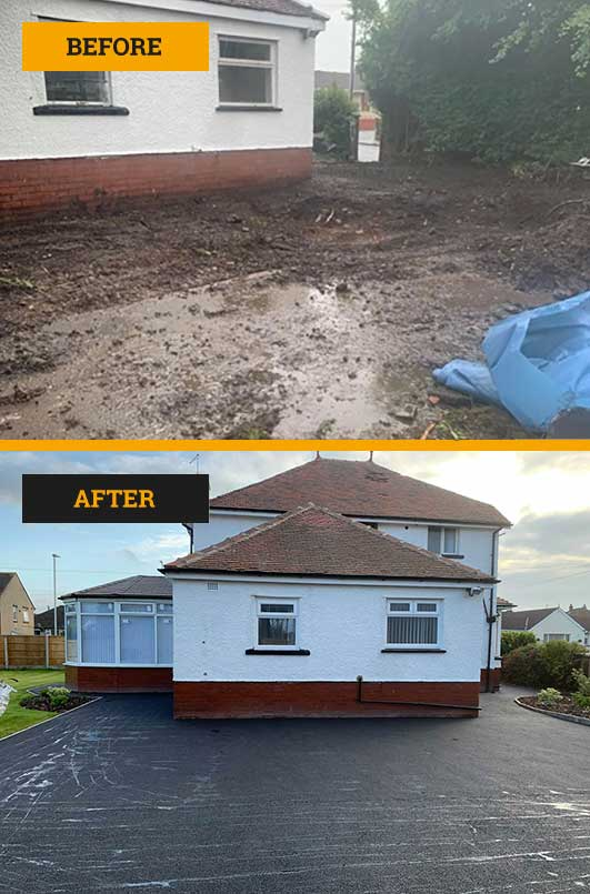 Landscaping & tarmac laid in Blackpool