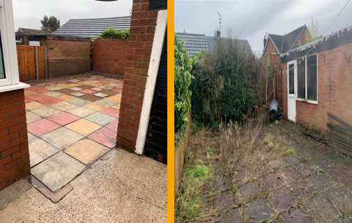 Patio steam clean and weeding service