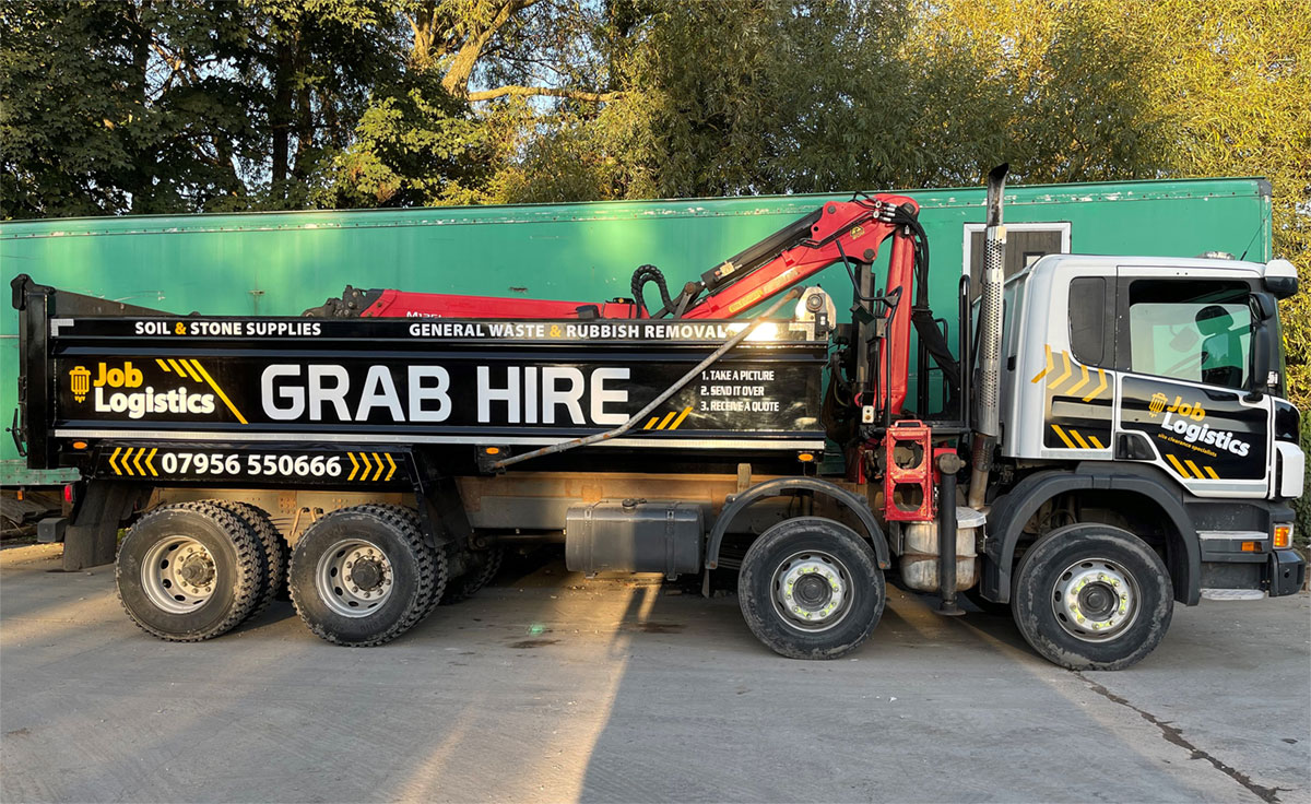Grab hire waste collection vehicle.
